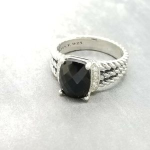 David Yurman Petite Wheaton Black Onyx Ring